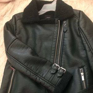 Leather Moto Jacket from Forever 21
